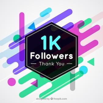 Fundo abstrato moderno de 1k seguidores