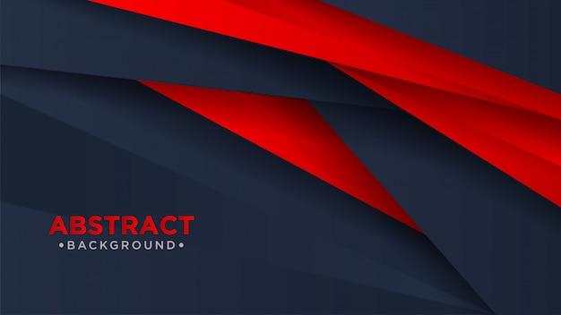 Fundo abstrato moderno escuro e vermelho.