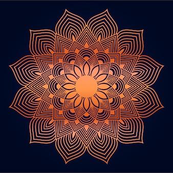 Fundo abstrato moderno mandala com estilo oriental árabe islâmico de arabesco dourado