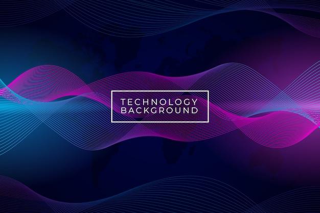 Fundo abstrato moderno onda com gradiente de cor roxa e azul