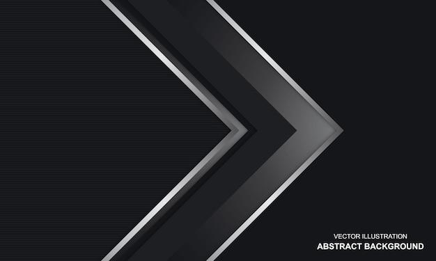 Fundo abstrato moderno preto dop e cor prata