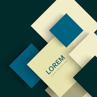 Fundo abstrato moderno quadrados