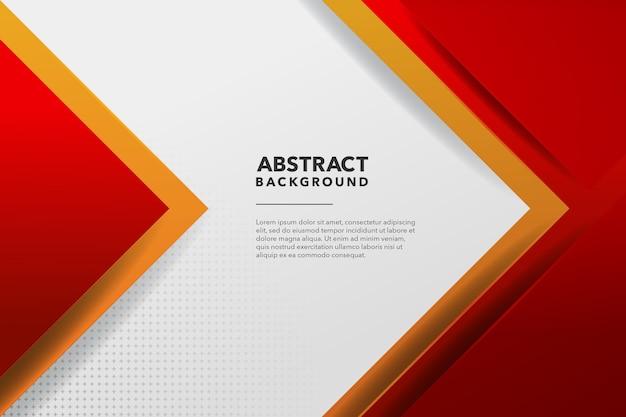 Fundo abstrato moderno vermelho e amarelo