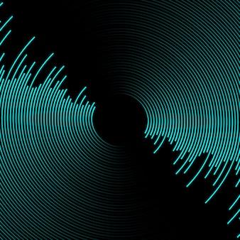 Fundo abstrato moderv com onda sonora