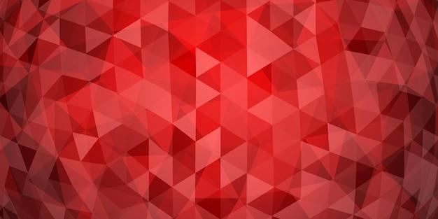 Fundo abstrato mosaico colorido de triângulos translúcidos em cores vermelhas