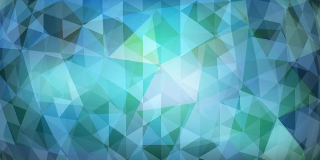Fundo abstrato mosaico colorido de triângulos translúcidos em tons de azul claro
