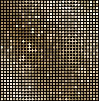 Fundo abstrato mosaico de ouro.