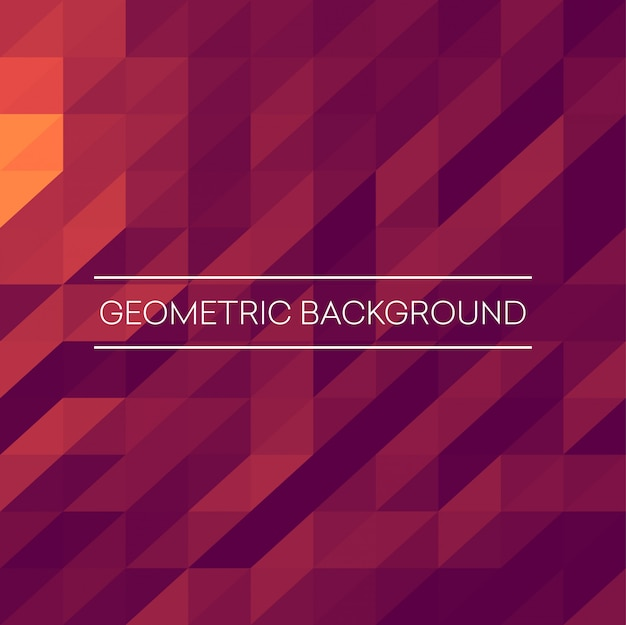 Fundo abstrato mosaico. triângulos rosa, roxo, laranja fundo geométrico. elementos de design.