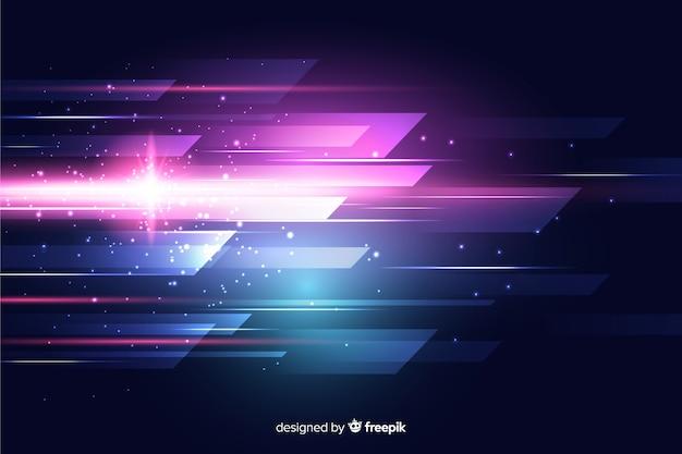 Fundo abstrato movimento de luz