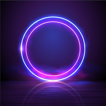 Fundo abstrato neon