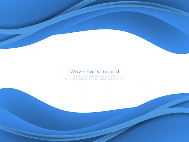 Fundo abstrato onda azul cor