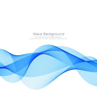 Fundo abstrato onda azul elegante