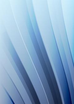 Fundo abstrato onda azul. linhas acenadas para folheto, site, design de folheto.