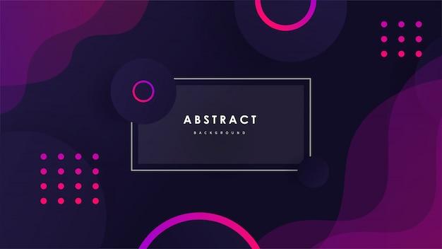Fundo abstrato onda com formas coloridas vector