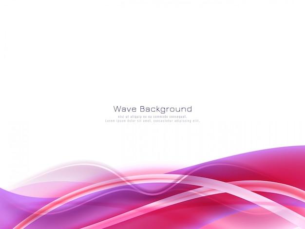 Fundo abstrato onda de cor roxa
