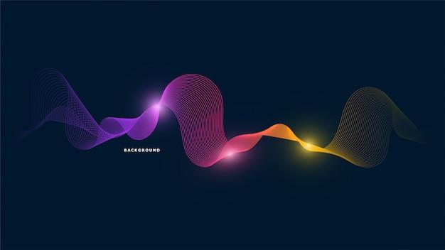 Fundo abstrato onda de luz