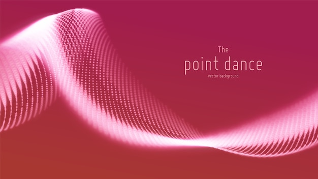 Fundo abstrato onda de partícula vermelha