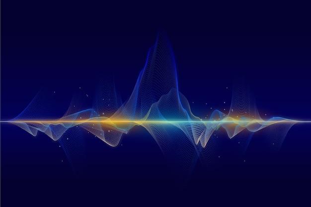 Fundo abstrato onda de partículas
