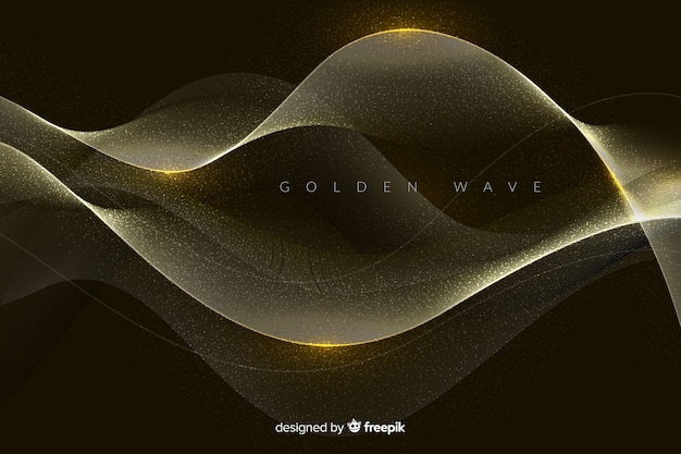 Fundo abstrato onda dourada