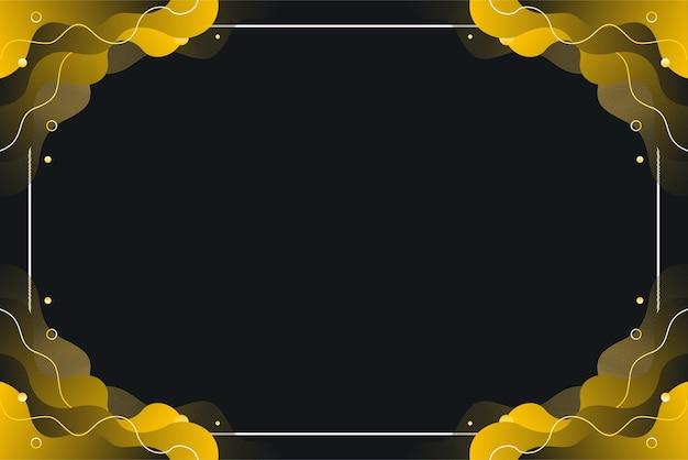 Fundo abstrato onda gradiente amarelo preto