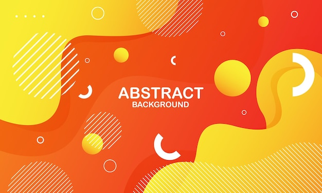 Fundo abstrato onda laranja. composição de formas dinâmicas