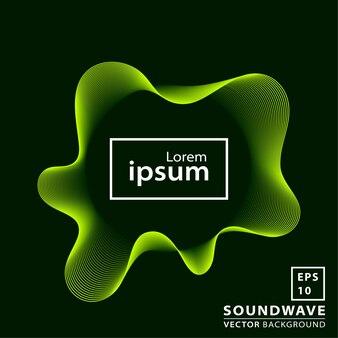 Fundo abstrato onda sonora