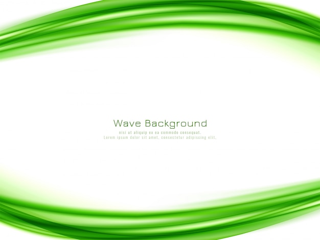 Fundo abstrato onda verde