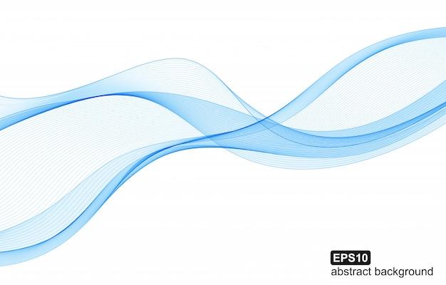 Fundo abstrato ondas azuis.