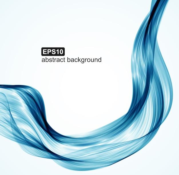 Fundo abstrato ondas azuis