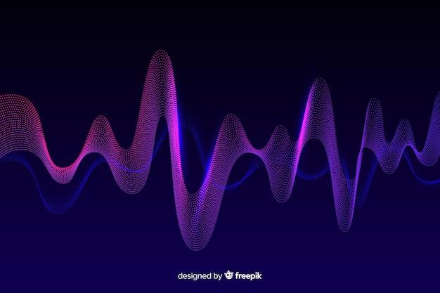 Fundo abstrato ondas de equalizador