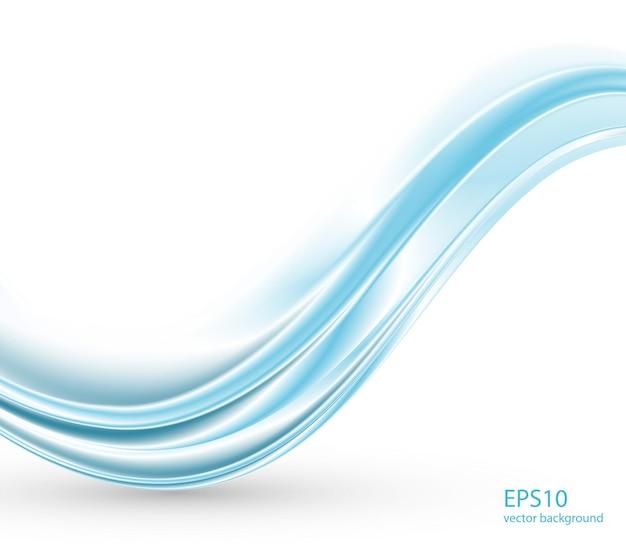 Fundo abstrato ondas do azul.