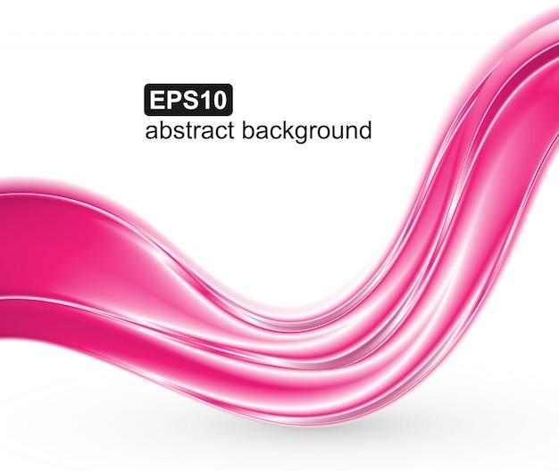 Fundo abstrato ondas rosa.