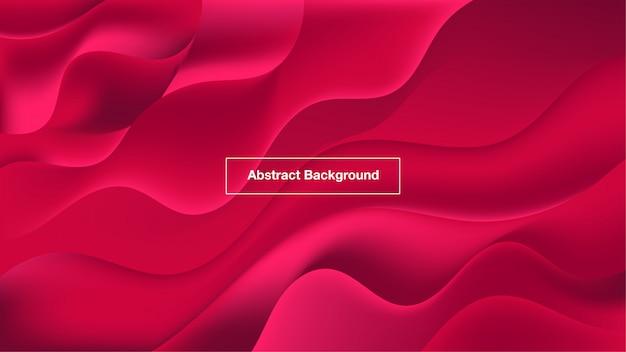 Fundo abstrato ondas vermelhas