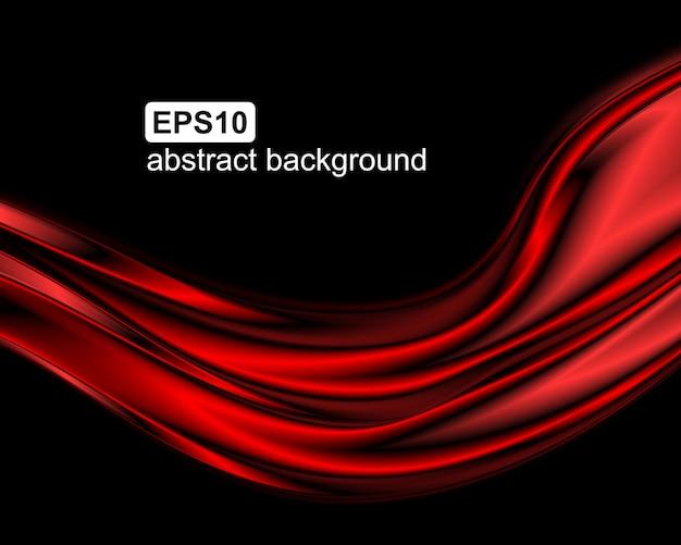 Fundo abstrato ondas vermelhas.