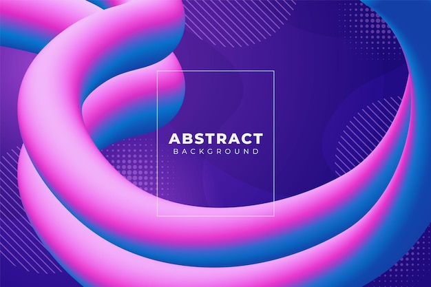 Fundo abstrato ondulado e fluido suave gradiente azul rosa