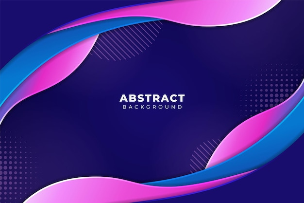 Fundo abstrato ondulado fluido sobreposto suave gradiente azul rosa