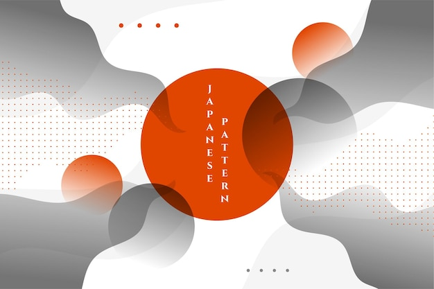 Fundo abstrato ondulado japonês elegante