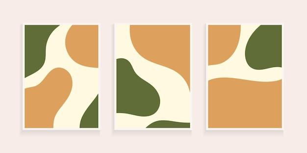 Fundo abstrato orgânico desenhado à mão com forma minimalista. colagem contemporânea