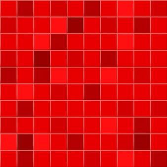 Fundo abstrato ou padrão sem emenda de azulejos em cores vermelhas