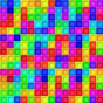 Fundo abstrato ou padrão sem emenda de ladrilhos coloridos com orifícios quadrados
