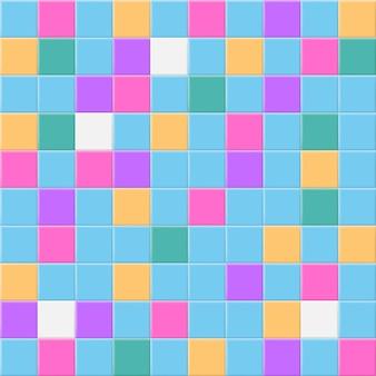 Fundo abstrato ou padrão sem emenda de ladrilhos coloridos