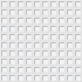 Fundo abstrato ou padrão sem emenda de ladrilhos com orifícios quadrados em cores brancas