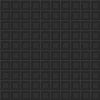 Fundo abstrato ou padrão sem emenda de ladrilhos com orifícios quadrados em cores pretas