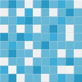 Fundo abstrato ou padrão sem emenda de ladrilhos nas cores azul claro e branco