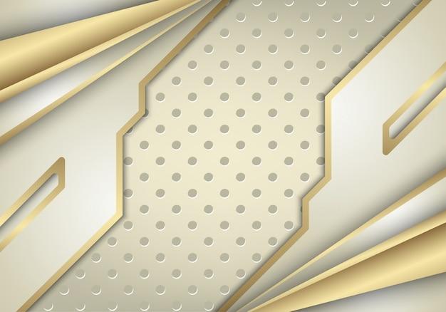 Fundo abstrato ouro branco combinar com efeito de luz.