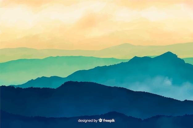 Fundo abstrato paisagem aquarela