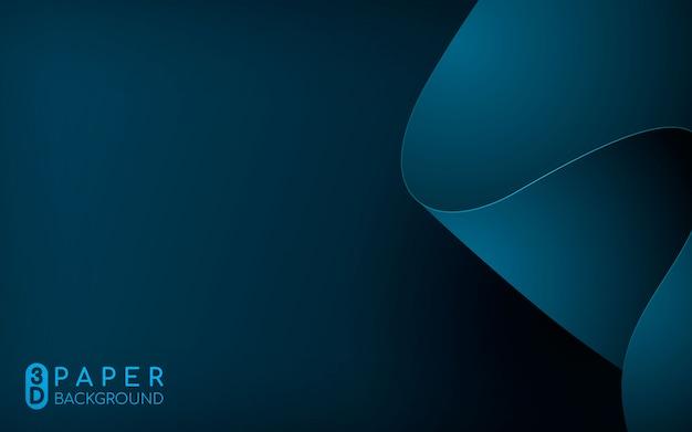 Fundo abstrato papel 3d azul
