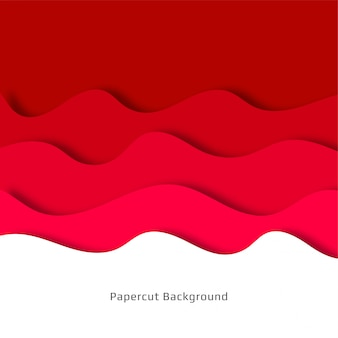 Fundo abstrato papercut vermelho