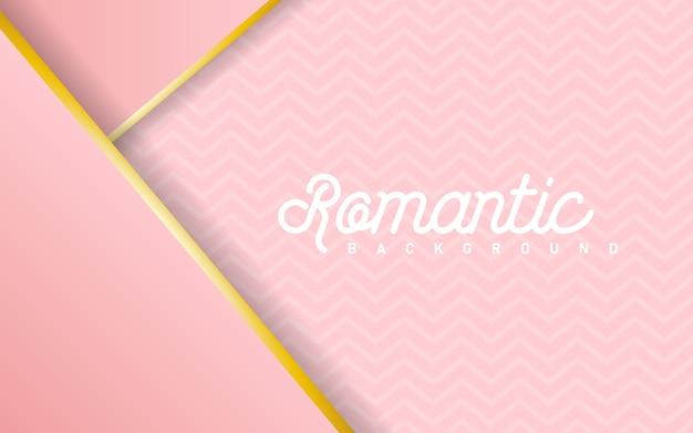 Fundo abstrato pastel rosa luxuoso combinado com elementos de linhas douradas