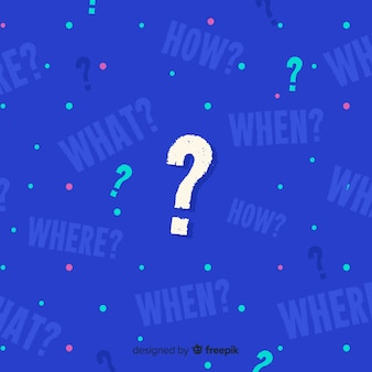 Fundo abstrato pergunta